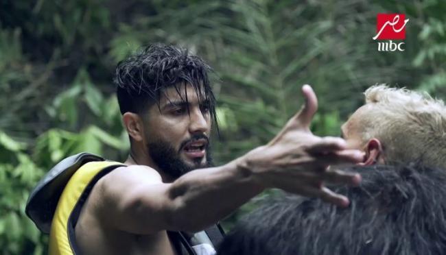 فرجاني ساسي يعتدي على رامز جلال بعد مقلب «رامز في الشلال»