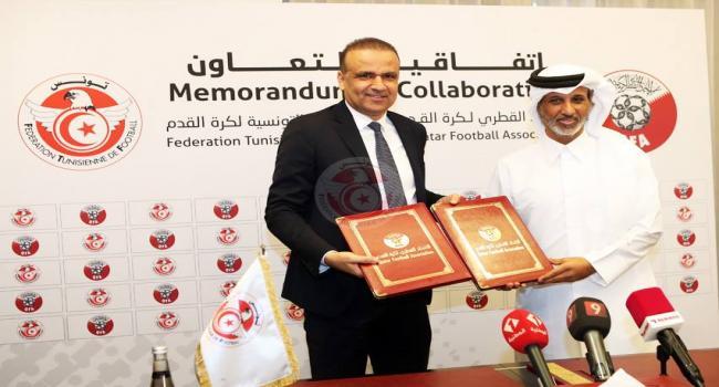 تفاصيل اتفاقية التعاون بين الجامعتين التونسية والقطرية لكرة القدم