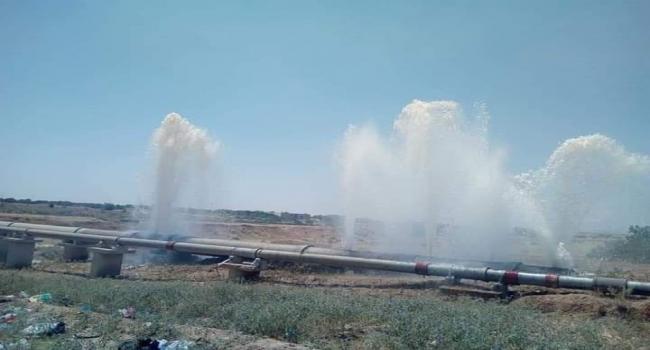 احتجاجا على انقطاع الماء: تهشيم وتكسير قنوات جلب المياه بمنطقة قنطرة الضبايعية بجلمة