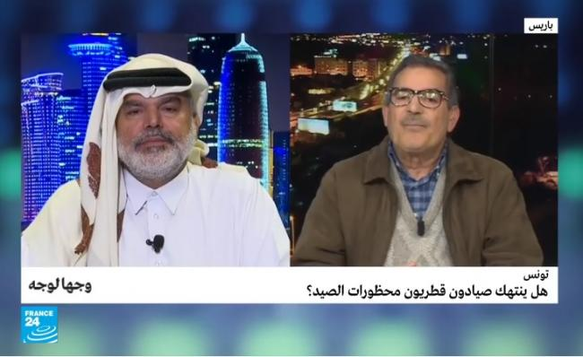 الكاتب القطري علي الهيل لبشير لعبيدي كاتب عام رابطة حقوق الانسان: لقطر محمية في الجنوب التونسي يرتادها هواة القنص