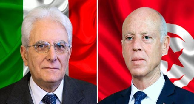 قيس سعيد يقترح على الرئيس الإيطالي إرسال وفد طبي للمساعدة