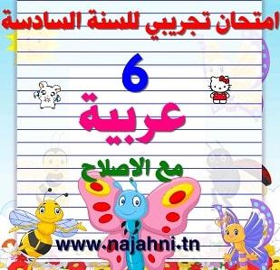 امتحان تجريبي للسنة السادسة -السيزيام- في مادة العربية+الإصلاح4.5 (2)