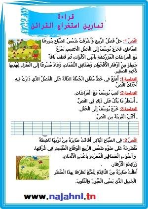تمارين التدرّب على استخراج القرائن في مادّة القراءة السنة الأولى والثانية5 (1)