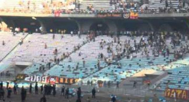مواجهات بين جماهير الترجي وقوات الأمن  بملعب رادس
